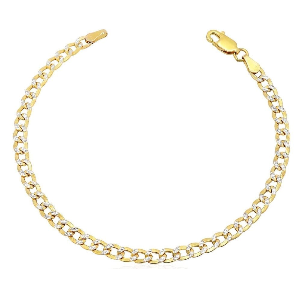 10k Yellow Gold Diamond Cut 3 5mm Cuban Curb Chain Kid S