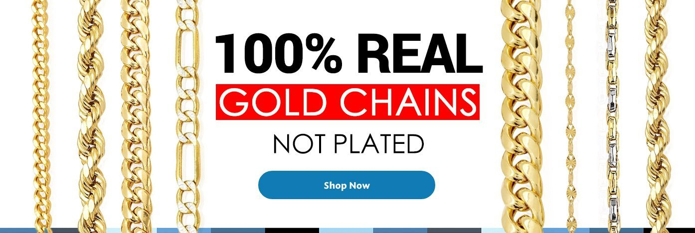 100% Real Gold Chains