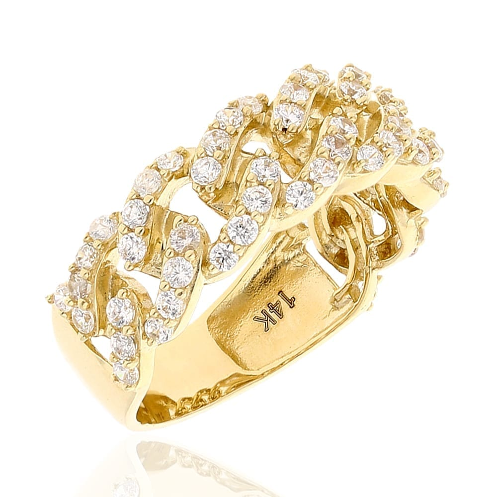 Diamond Cuban Link Ring