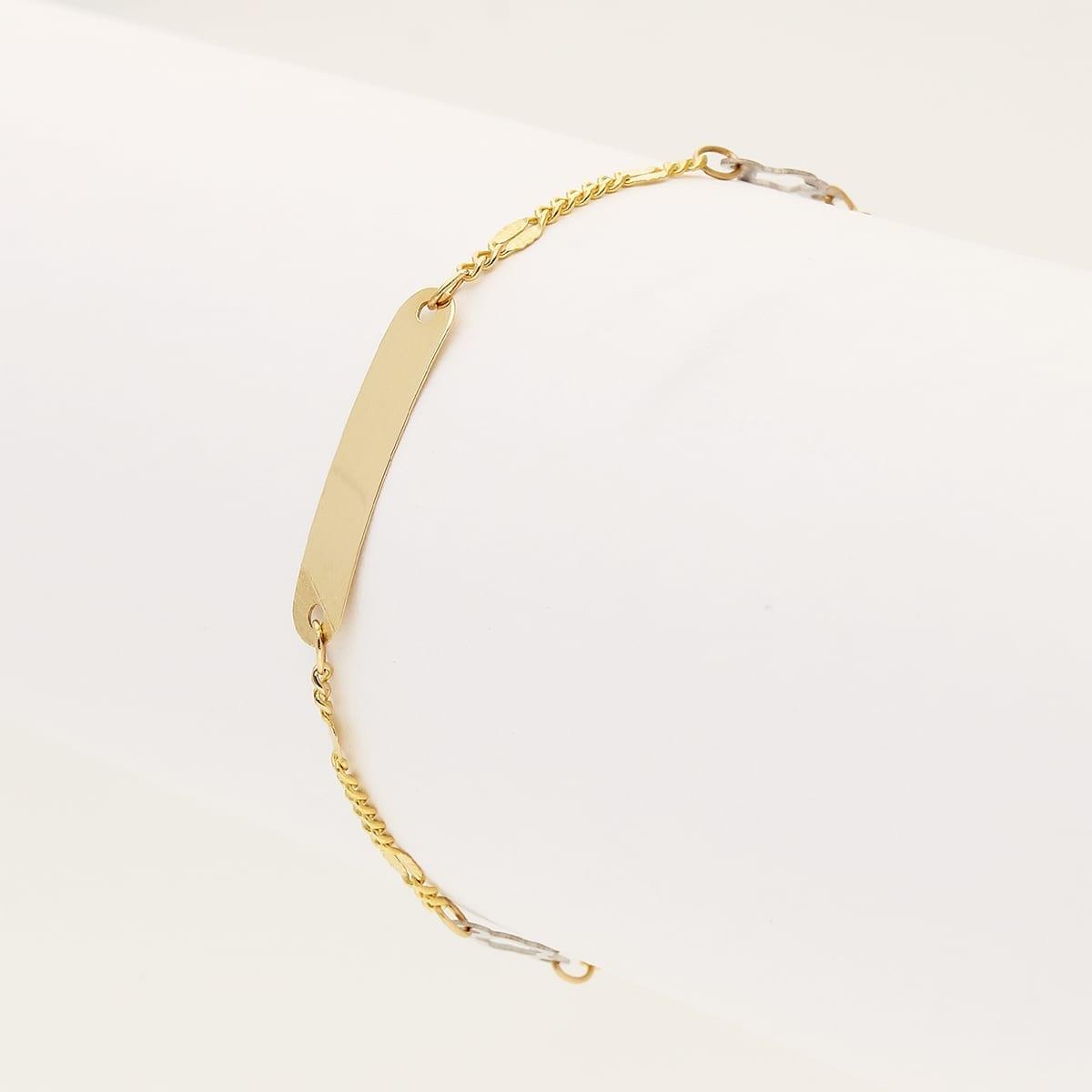 """14k Yellow Gold Cuban Link Open Flower Charm Kids ID Bracelet 4.5/""""-5.25/"""""""