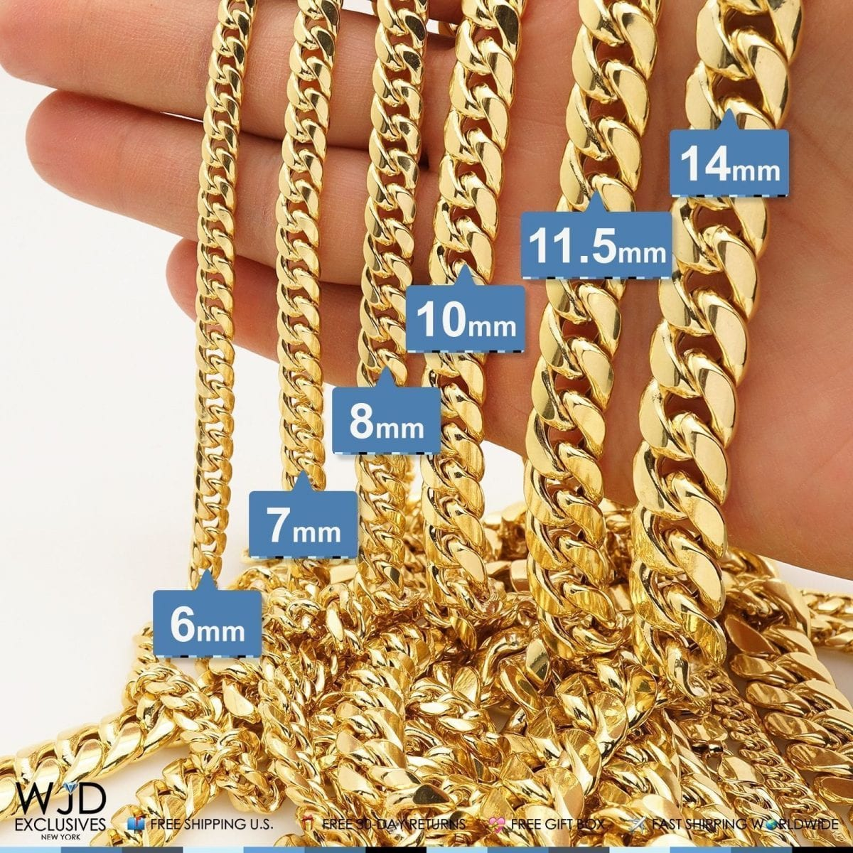 14k Yellow Gold 7 5mm Hollow Miami Cuban Chain Necklace 24