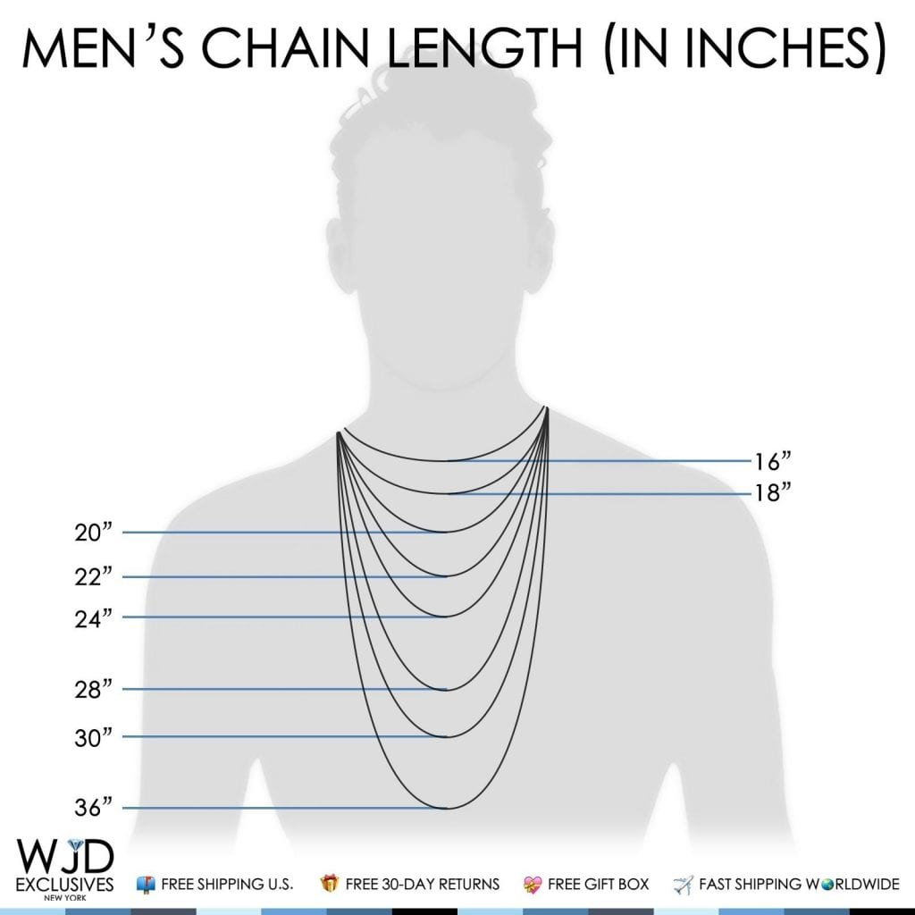 Link necklace diagram information of wiring diagram 925 sterling silver 3mm high polish figaro link chain necklace 22 rh wjdexclusives com necklace length diagram men parts of a clasp necklace ccuart Choice Image
