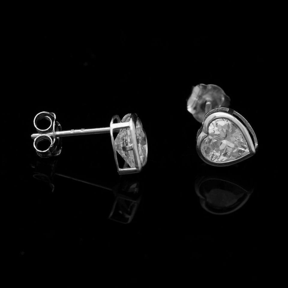 company brilliant set bezel stud in marshall pierce earrings earring round product carat classic diamond cut