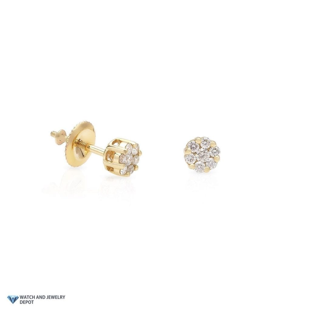 flat jewellers stud grahams gold yellow in a image earrings round