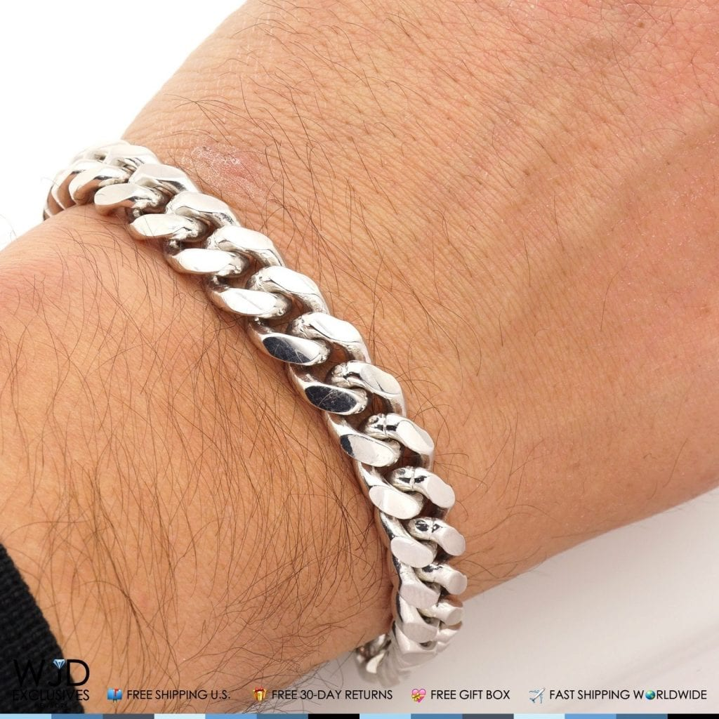 925 Sterling Silver 10mm Wide Miami Cuban Link Chain
