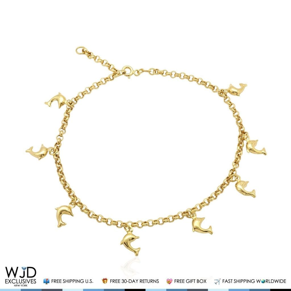 solid wjd gold link yellow clasp bracelet rolo ring elephant exclusives spring anklet product