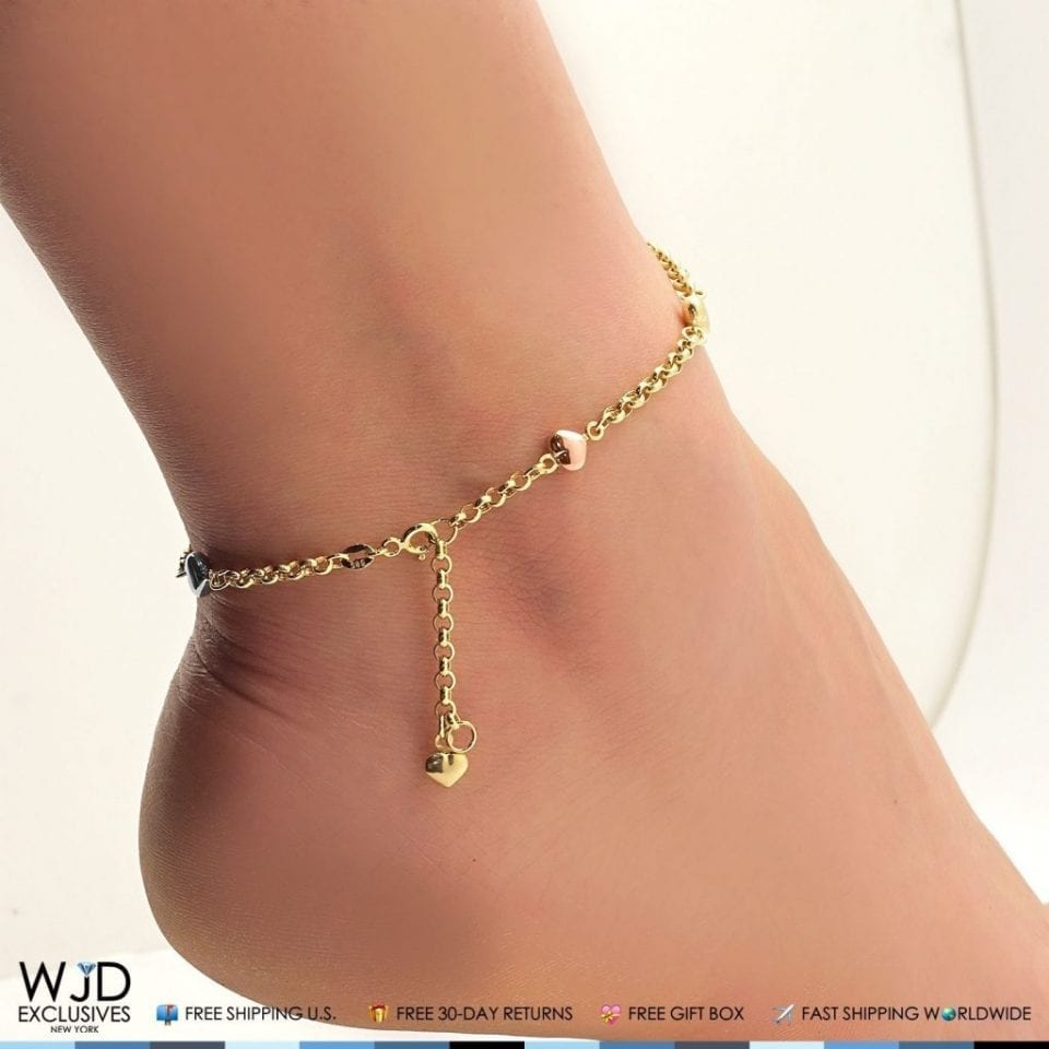 ball tradesy slider co jewelry bracelet gold ankle avital yellow i anklet and