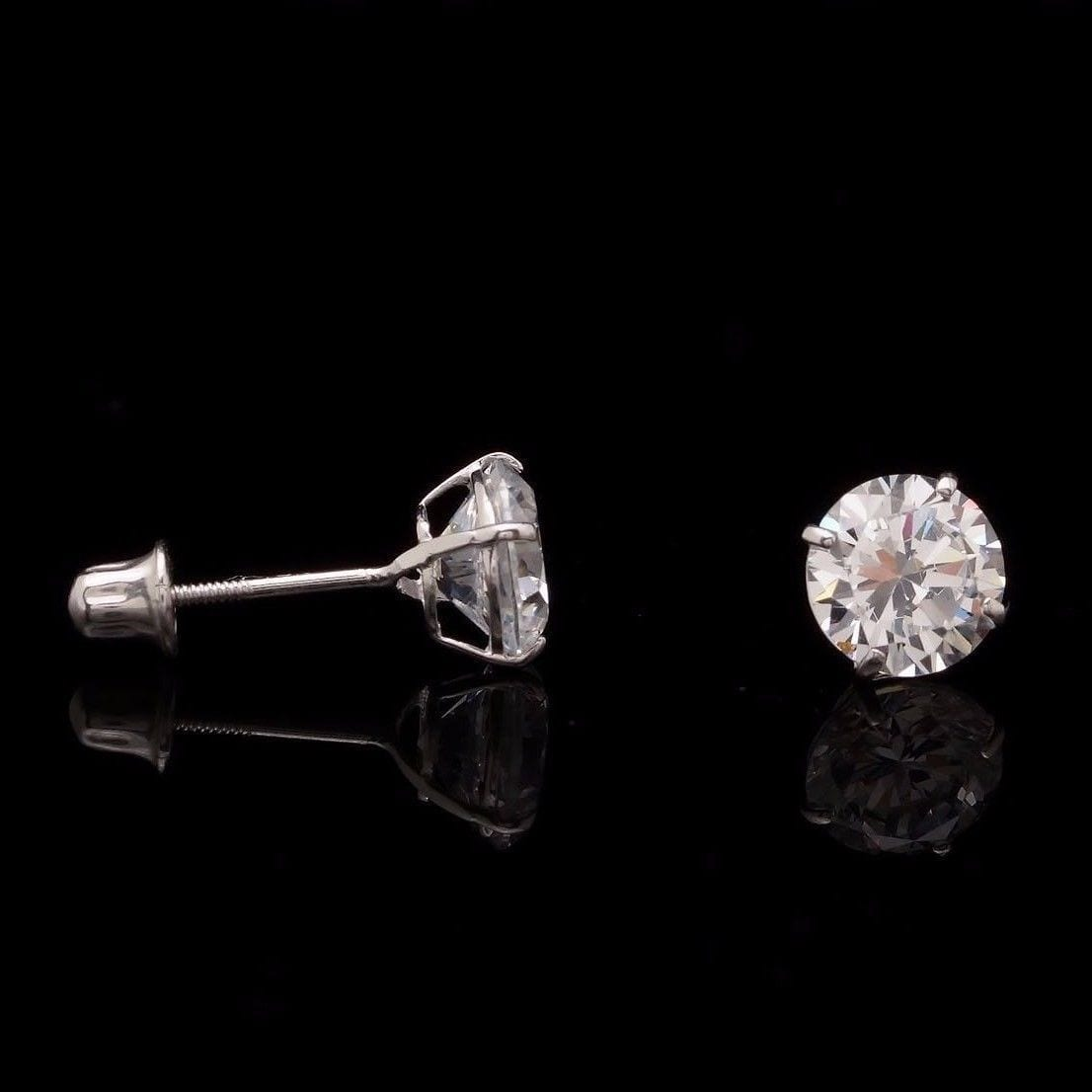 Man Made Diamond Stud Earrings Uk