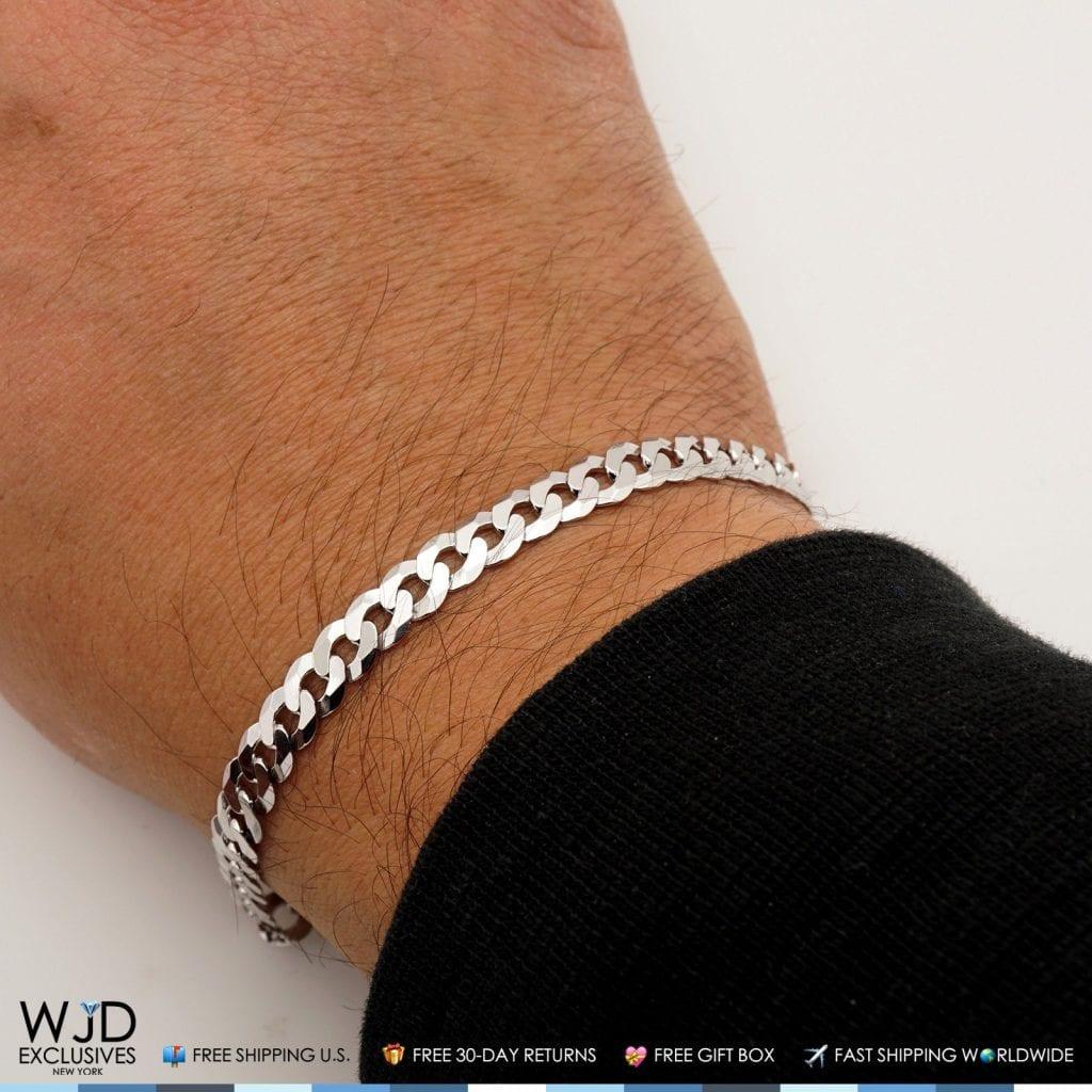 925 Sterling Silver 6mm Miami Cuban Curb Link Bracelet 8