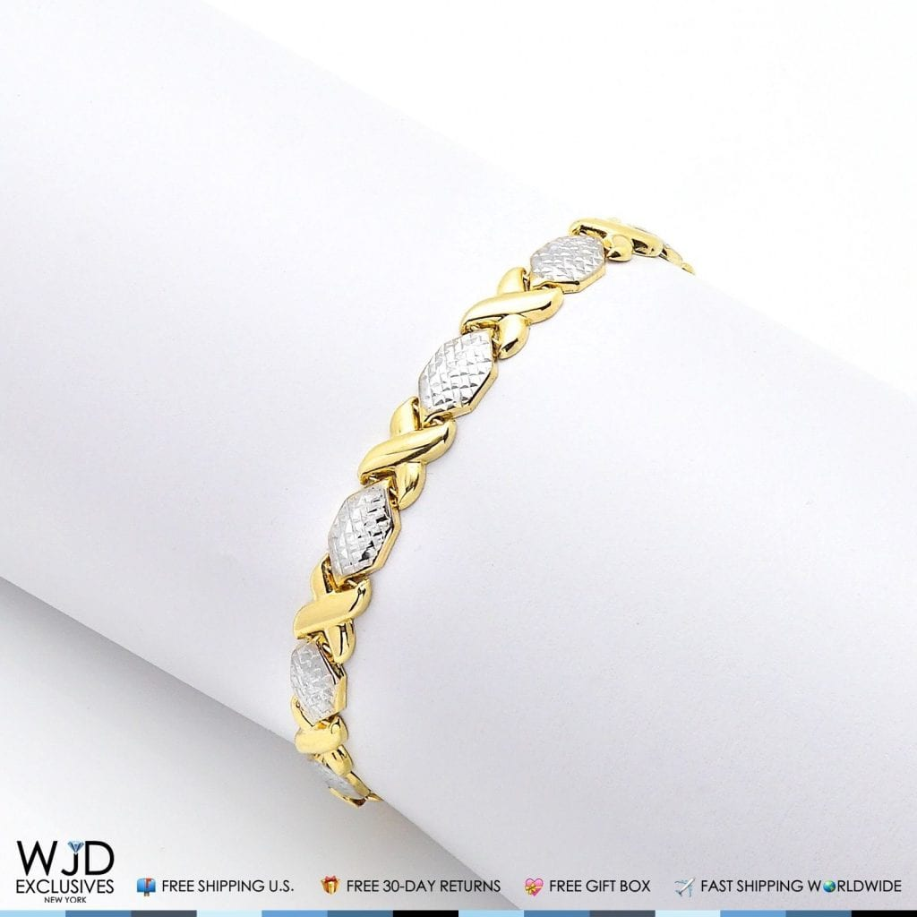 cut yellow italian real clasp itm diamond lobster gold n chain rope bracelet