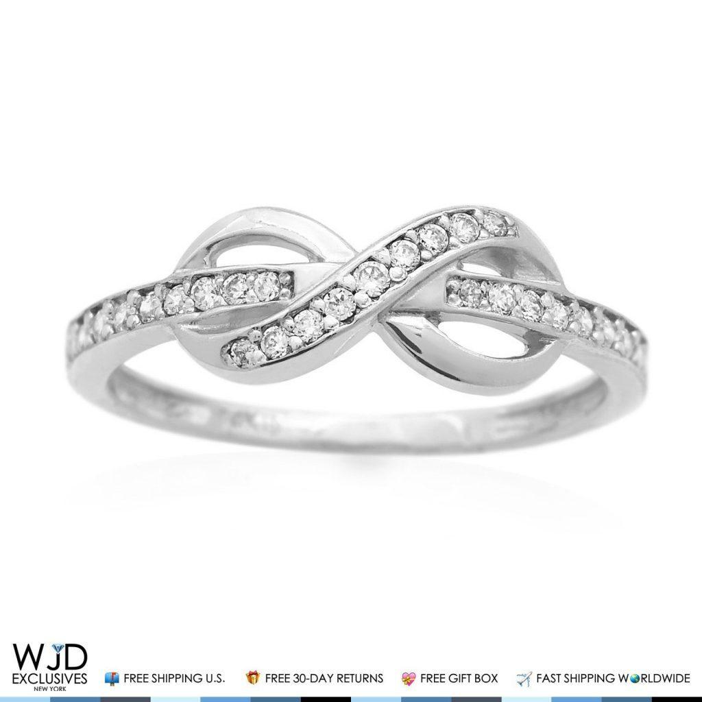 White Gold Infinity Toe Ring